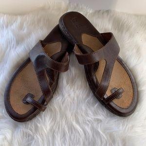 BornBOC Lotte Brown Toe Ring Sandals Size 10